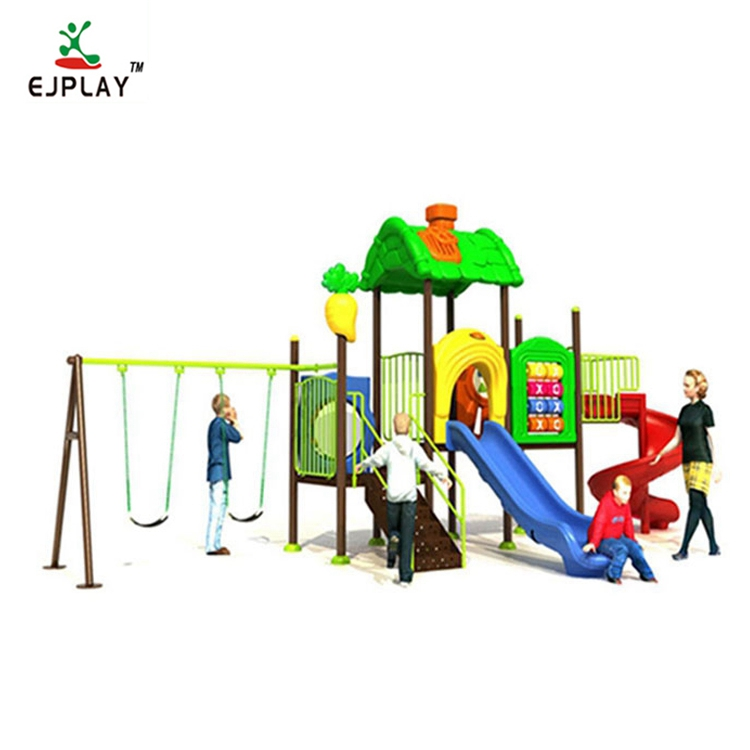 Plastic Slide Type Plastic Swing And Slide Kids Playground Outdoor Equipment