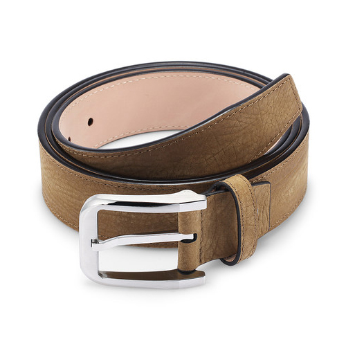 Fashion Genuine Leather Men's Dress Belt Business Casual Brown Belt