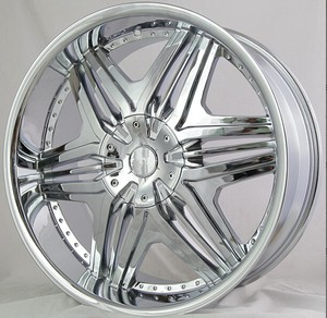 22 inch deep dish chrome car alloy wheel rims, 6x139.7 wheels rim