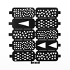Hot sale Fashion custom nail art stickers stencil stamp nail wraps