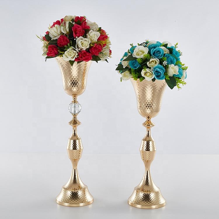 Bowl shape floor vase large for wedding decoration