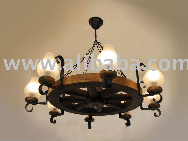 de 8 lumi res lustre rustique lustre id de produit 115091653. Black Bedroom Furniture Sets. Home Design Ideas