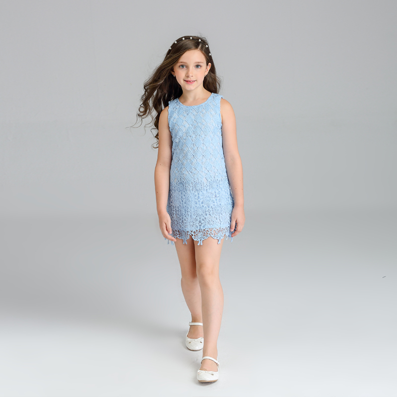Latest fashion korean children lace frocks designs kids girl princess dresses for girls
