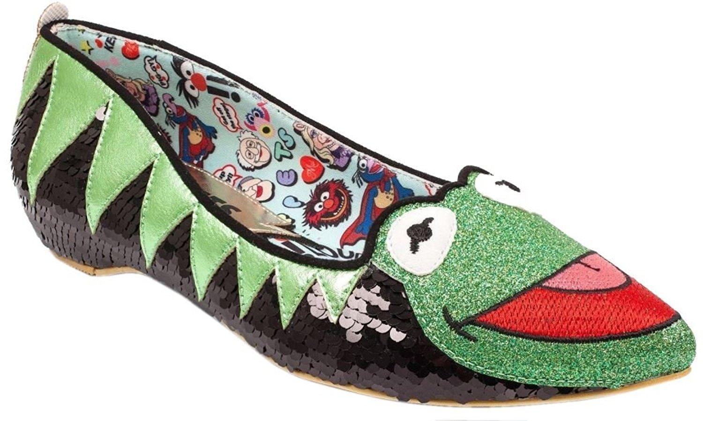 315bac291718 Get Quotations · Irregular Choice Womens Muppets Kermit The Frog Flat Shoes  - 4 UK 6.5 B(