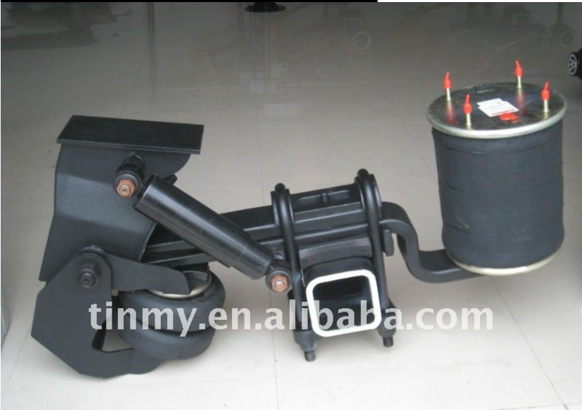 Car Carrier Semi Trailer Lift Air Bag Suspension System Overslung