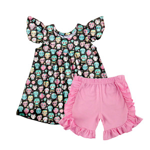 children's boutique clothing Halloween style's fine clothes sets toddler girls wear outfits 2 pcs clothing
