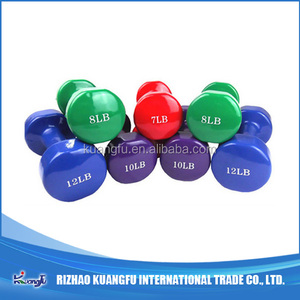 Dumbbell Round Head Vinyl Dipping/fitness exercise/Good quality