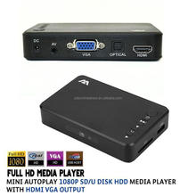 HD Media <span class=keywords><strong>Player</strong></span> di sostegno 1080 p SD/U Disk Media <span class=keywords><strong>Player</strong></span> Con HDMI VGA Uscita