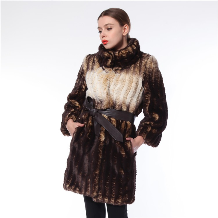 Best Quality Competitive Price Elegant Korean Style Fur Lady Coat
