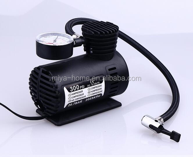 Draagbare Auto tire inflator pomp/Auto 12 V Electric Air Compressor/Tire Inflator 250PSI