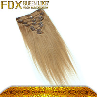 abundant stock natural color peruvian clip in hair extension, fast shipping