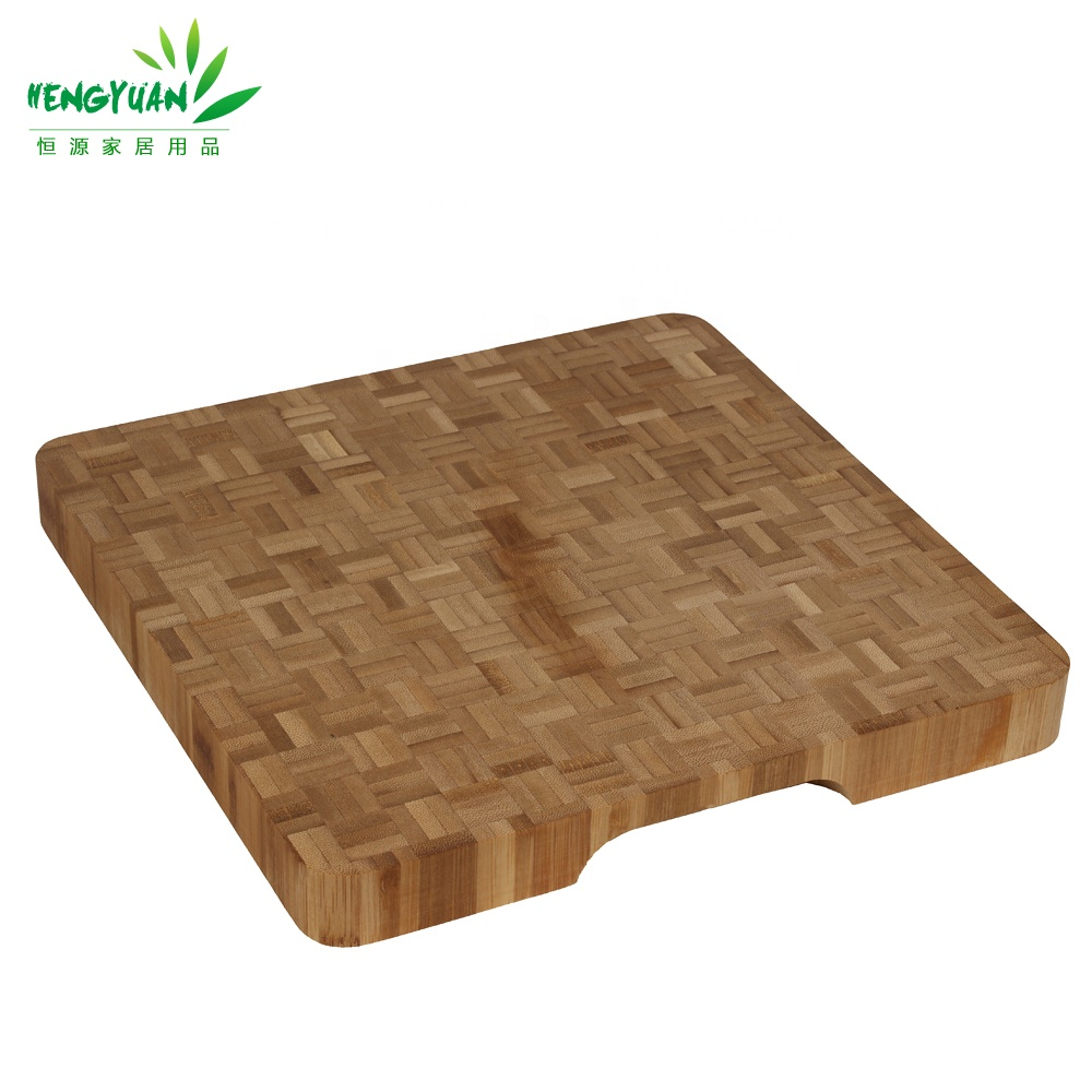 Hot Square Bambu Tebal Wood End Memotong Gandum Papan