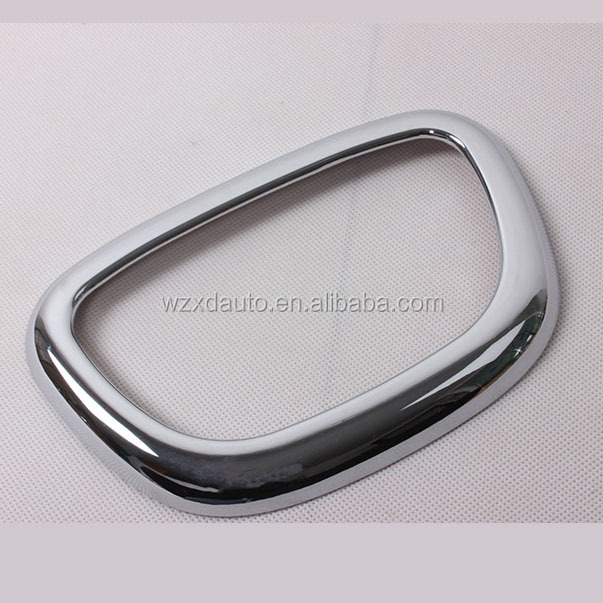 ABS Chrome Bright Interior Roof Reading Light Lamp Cover Trim 1 Pcs For Cherokee 2014 Accessories