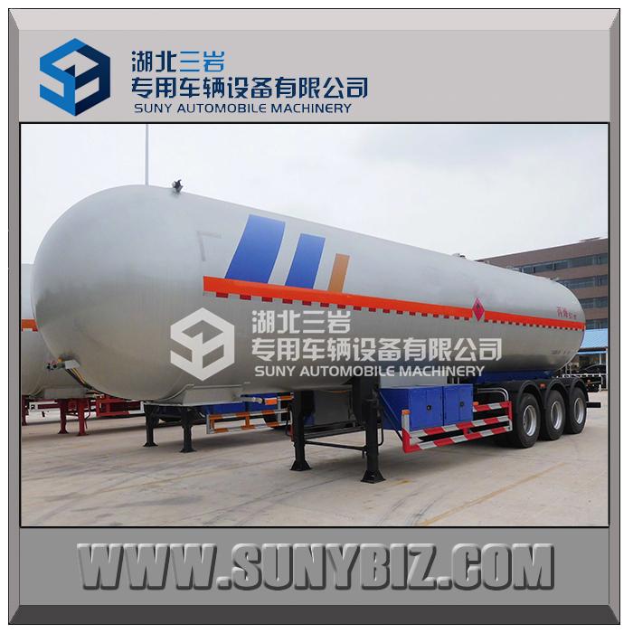 Three Axles 57000lt 57kl 57m3 Propylene Lpg Road Tanker ...