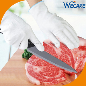 White Food Grade Kitchen Use Higher Performance Cut Resistant Gloves HPPE Meat Cutters Gloves