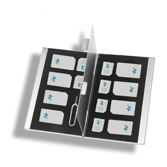 Almacenamiento compacto portátil caso caso plástico Tarjeta de memoria de tarjeta Protecter titular