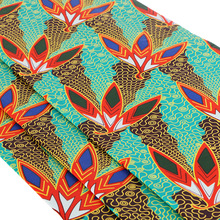 Factory price cotton wax print fabric rolls of african batik fabric