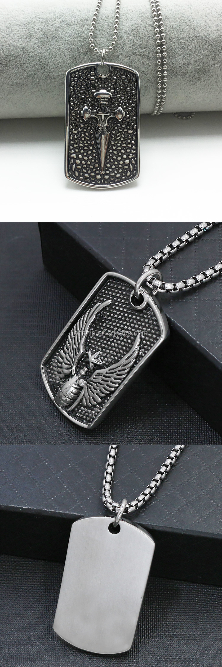 Cheap promotional 3D embossed logo metal dog tags made in China