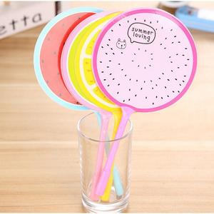 Cute Cool Cartoon Fruit Personalized Promotional Fan Gel Pens