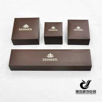 Luxury Brown Pu Leather Jewellery Boxes Jewellery Packaging Boxes Jewelry Presentation Boxes With Custom Logo Whole Set Buy Pu Leather Jewellery