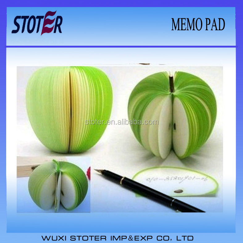 3D fruit shape memo pad/note pad