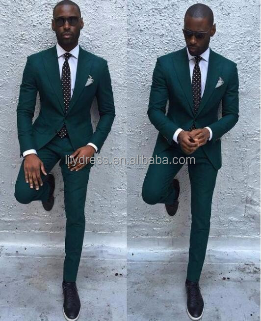 Abiti da sposa Design Formale Slim Fit Su Misura Mans Wedding Suits Set (Giacca + Pantaloni + Bow) WS222 Da Sposa smoking Per Gli Uomini Verde