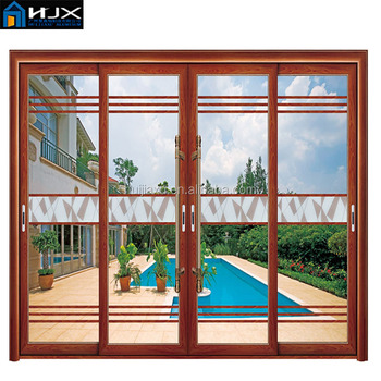 Indian Main Door Designs Aluminum Sliding Glass Door Entrance