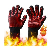 1472F Extreme Heat Resistant Oven Gloves Silicone Insulated Oven Mitts for Cooking Baking & Smoker