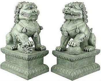 Charmant FOO DOG GARDEN STATUE FDGS02