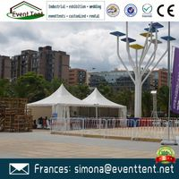 Windtight 5x5m outdoor Aluminium frame garden pagoda tent or wedding tent
