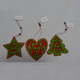 Handmade Small Wooden Christmas Tree Ornaments