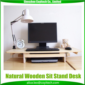 Computer Standing Desk Conversion Kit Stand Up Sit Down Desk For