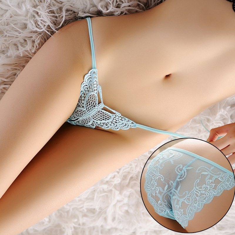 Embroidered Lace Transparent G-strings Lingeries