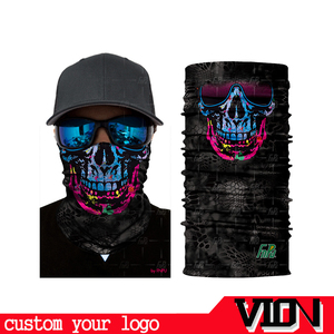 Multifunction Biker Microfiber Polyester Fabric Magic Tube Skull Custom Logo Bandana