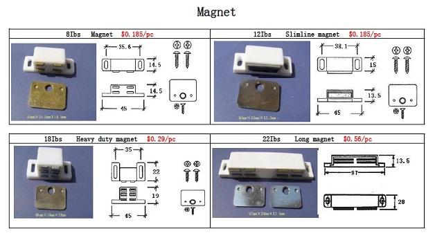 PVC Window Opening Hardware Magnet