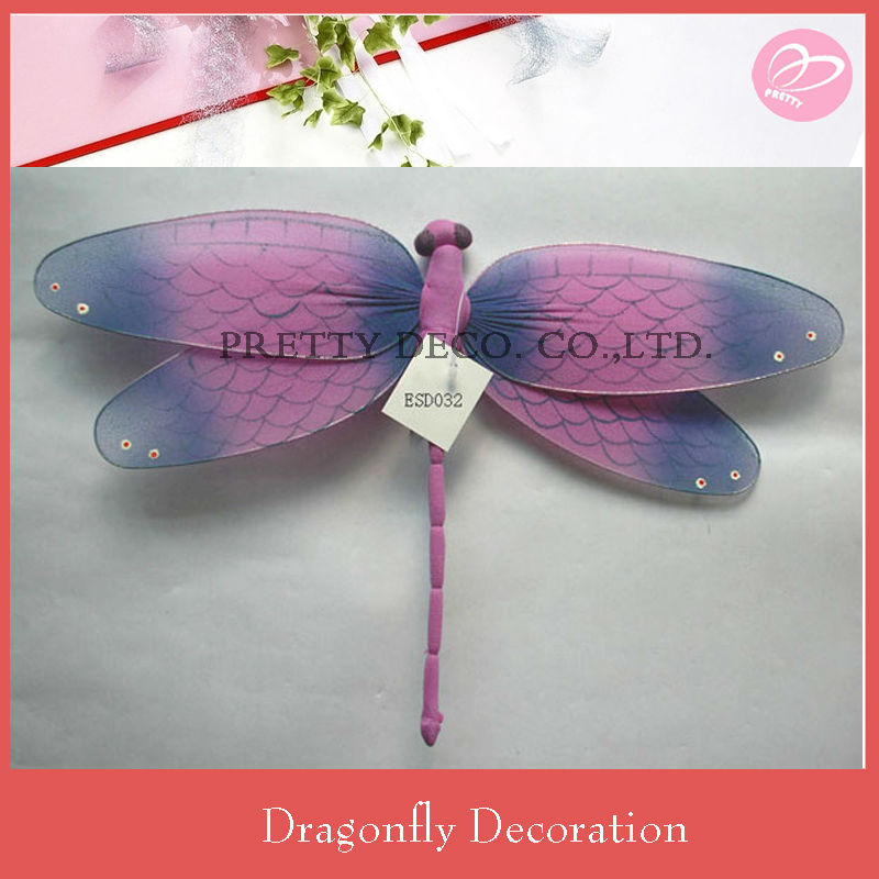 Purple draw Handmade artificial dragonfly