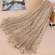High quality and fashion Scarf for women decorate flower lace hijab muslim headscarf in plain color