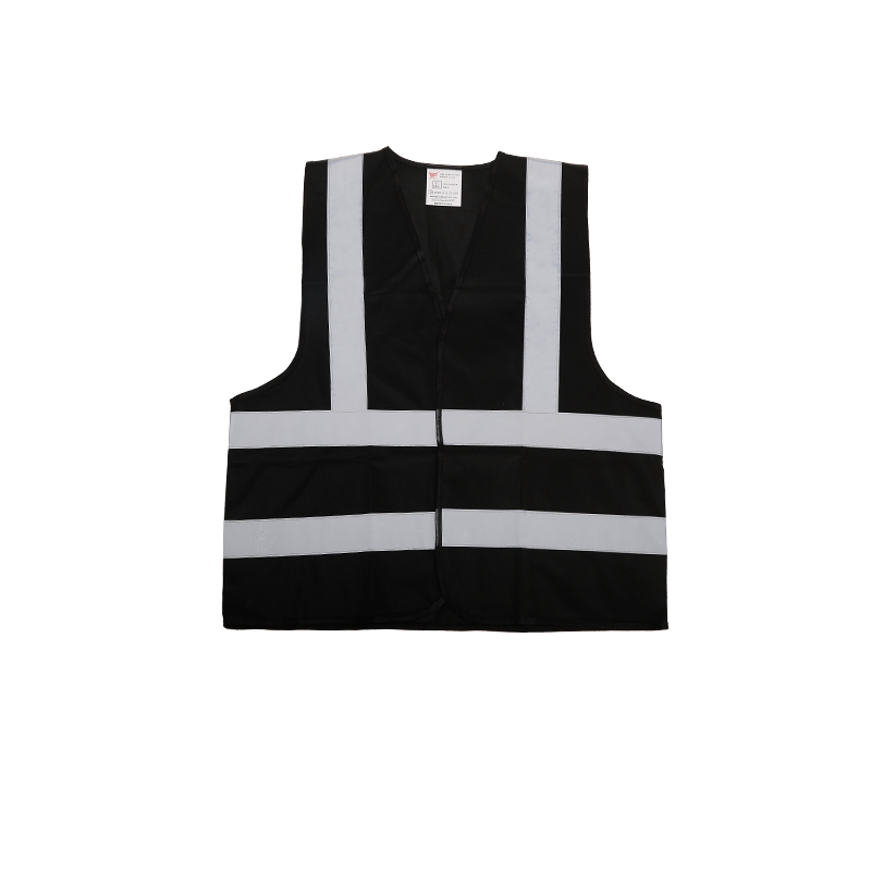 Bsci Cheap Black Reflective Safety Vest With Pockets For Workwear ... b072f36930a