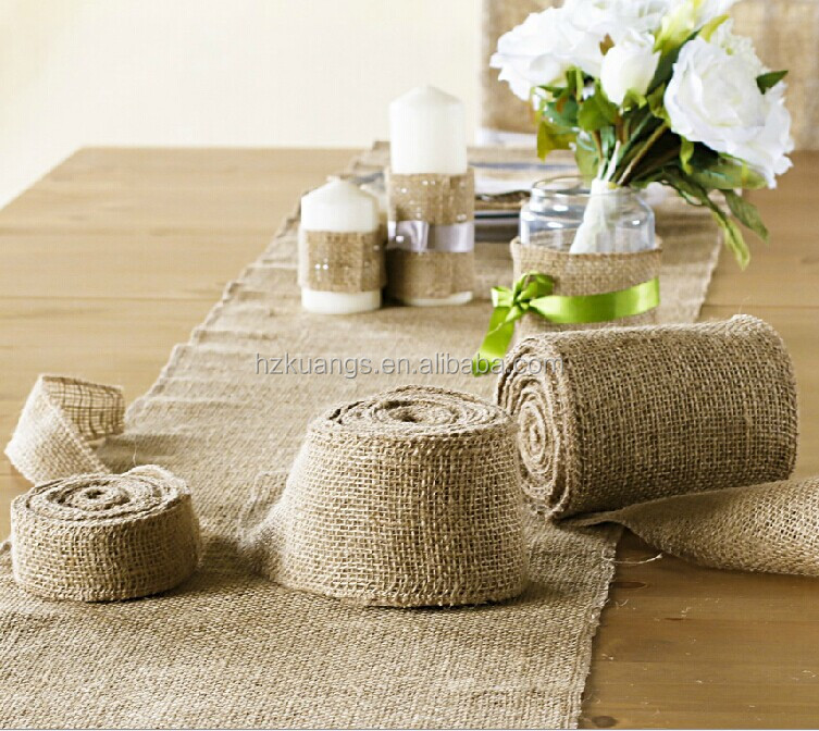 Fancy Wedding Burlap And Lace Table Runner