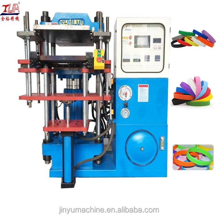 single head hydraulic base color wristband making machine