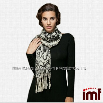 wool scarf hohhot factory,100% pure cashmere scarf