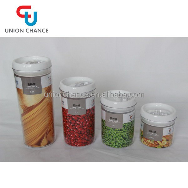 Hot Selling Plastic Food Storage Container with Lid and Printing Service