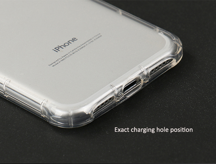 DFIFAN Clear tpu protective case for iphone 7 8 soft flexible shockproof cover case for iphone 7