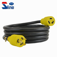 USA NEMA L8-20 Locking power extension cord Lock plug L8-20P to L8-20R 480V with custom mains cable used in American US America