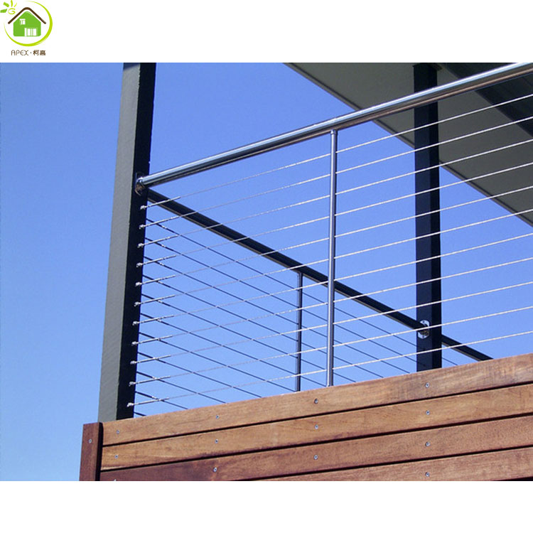 Captivating Exterior Stain Steel Pipe Stair Handrail/metal Stair Railing