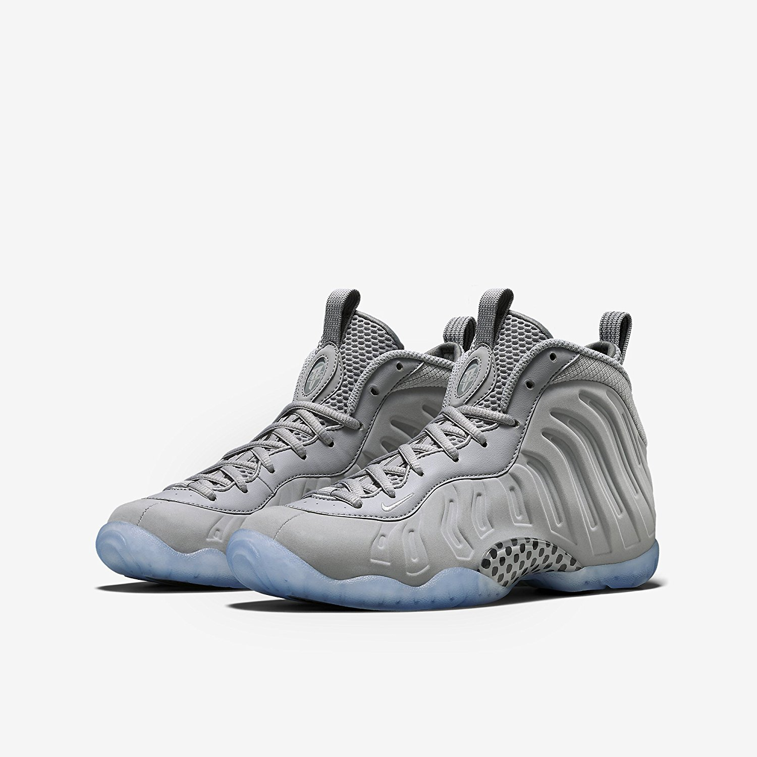 37f598808865c Nike Air Foamposite Little Posite One Grey Suede Grade School  Grey Black White