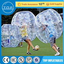 Professional bumper balls adults inflatable soccer dummy led bouncing ball for wholesales