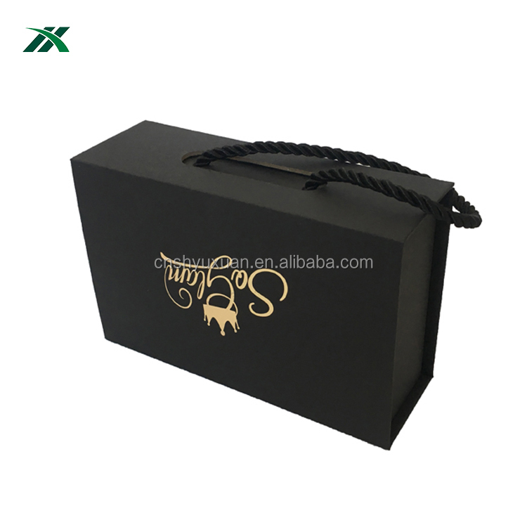 wholesale black magnetic gift box for swimwear