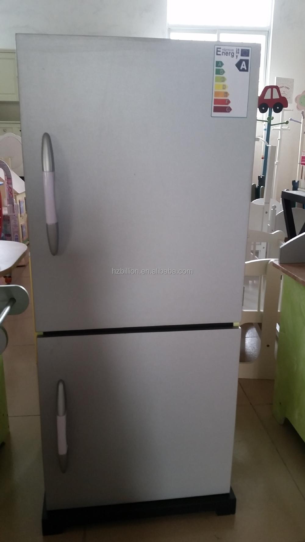 Wooden Kids Bbq Kitchen Refrigerator Pretend Play For Storage ...