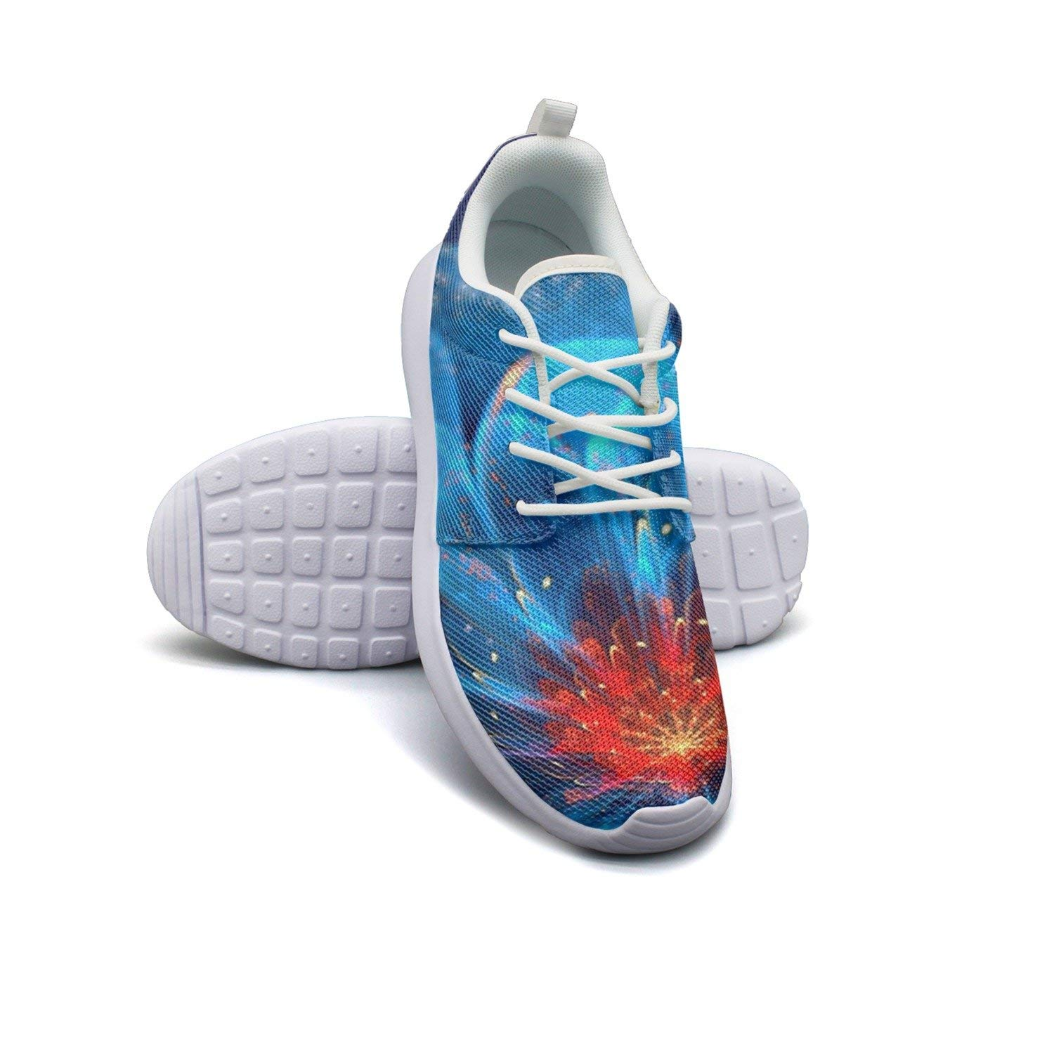 HJXJESSIE Woman Cool Flower Wallpapers Running Shoes Jogging Runner Sports Sneakers